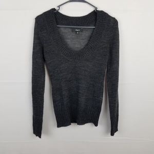 Express Gray Scoop Neck Sweater Size XS